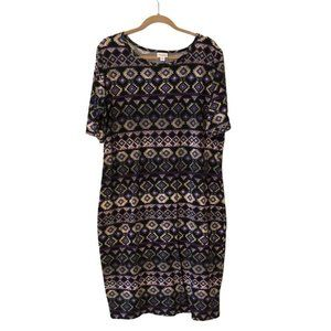 LuLaRoe Short Sleeve Tribal Print Tunic Dress Size